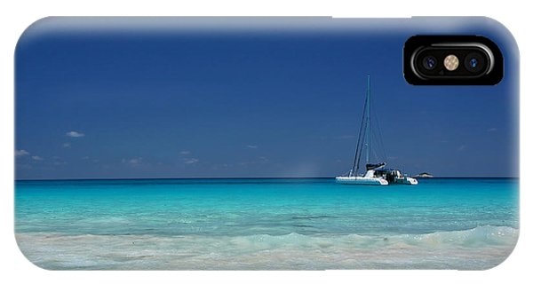 Praslin Island Catamaran IPhone Case