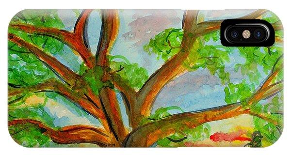 Prayer Mountain Tree IPhone Case