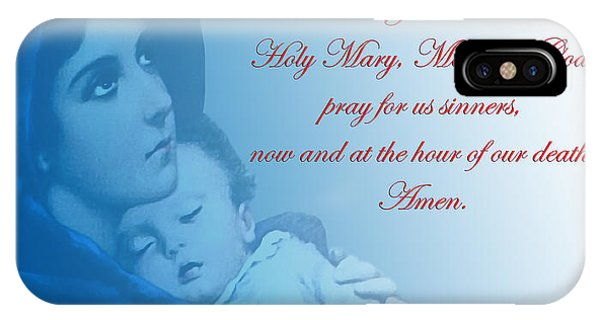 Prayer To Virgin Mary 2 IPhone Case