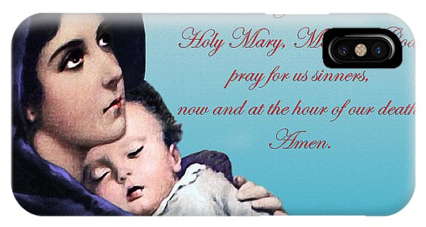 Prayer To Virgin Mary IPhone Case