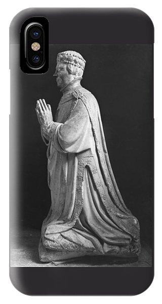 Praying Kneeling Figure Of Duc Jean De Berry 1340-1416 Count Of Poitiers IPhone Case