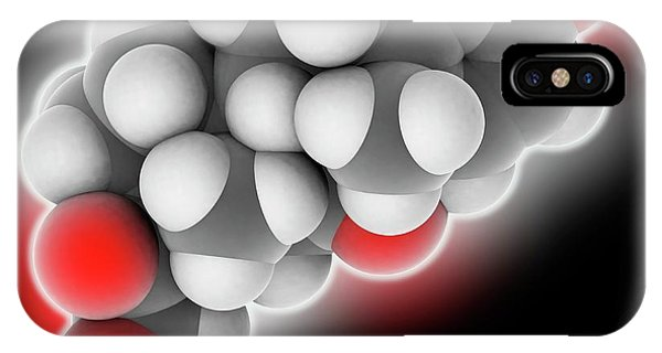 Prednisone Drug Molecule Phone Case by Laguna Design
