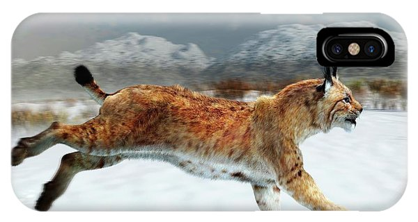 Lynx iPhone Case - Prehistoric Iberian Lynx by Jose Antonio Pe�as