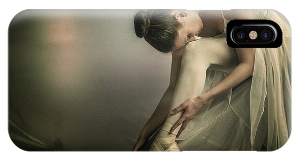 Ballerina iPhone Case - Preparation To Dance by Federico Cella