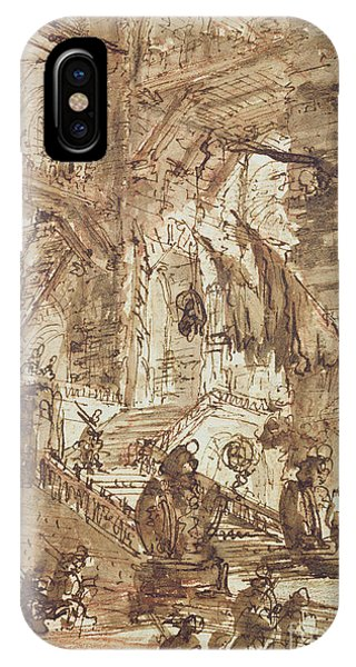 Sign iPhone Case - Preparatory Drawing For Plate Number Viii Of The Carceri Al'invenzione Series by Giovanni Battista Piranesi