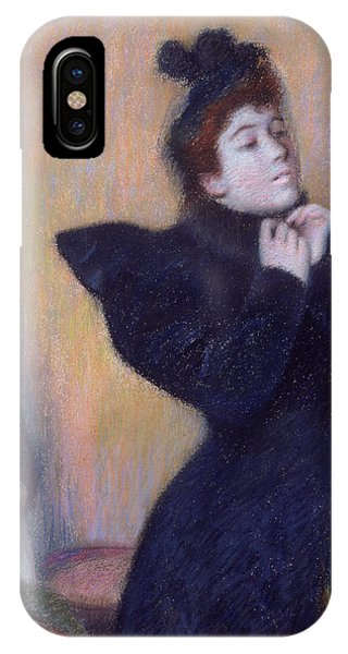 Dressing iPhone Case - Preparing To To Out, 1894 Pastel by Federigo Zandomeneghi