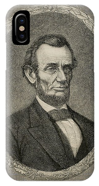 United States Presidents iPhone Case - President Abraham Lincoln by American School