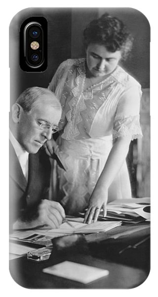 President And Mrs. Woodrow Wilson IPhone Case