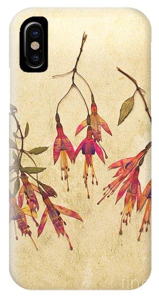 Pressed Fuchsia Flowers IPhone Case