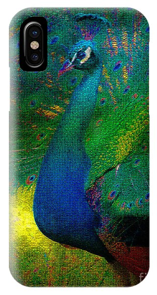 IPhone Case featuring the photograph Pretty As A Peacock by Ola Allen