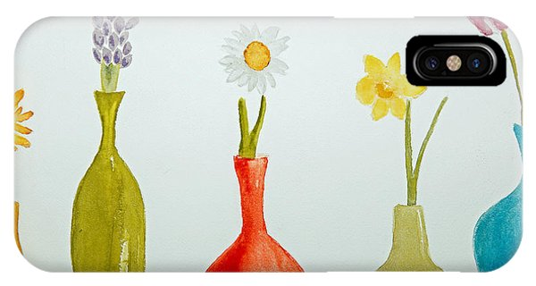 Pretty Flowers In A Row IPhone Case