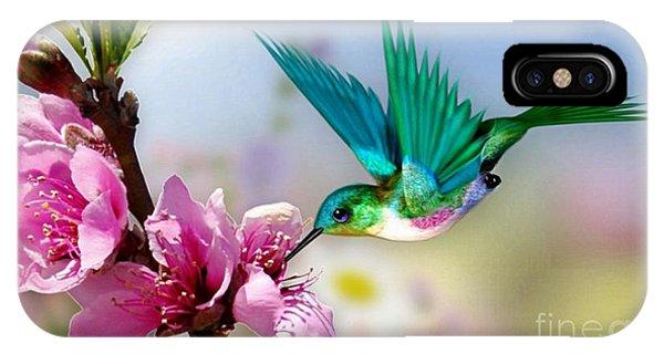 Pretty Hummingbird IPhone Case