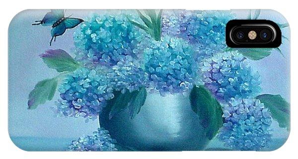 Pretty In Blue IPhone Case