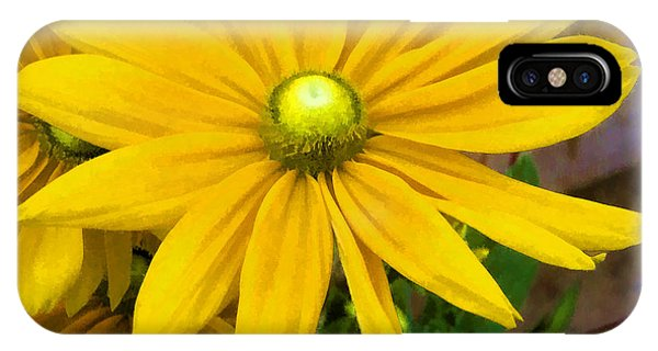 IPhone Case featuring the digital art Pretty In Yellow by Photographic Art by Russel Ray Photos