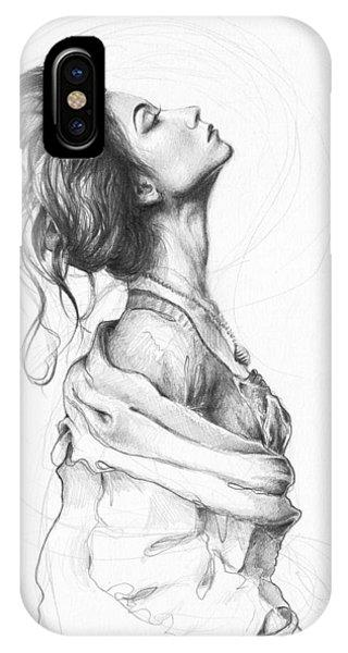 Illustration iPhone Case - Pretty Lady by Olga Shvartsur