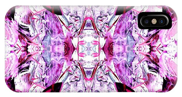 Pretty Pink Weeds Abstract  4 IPhone Case