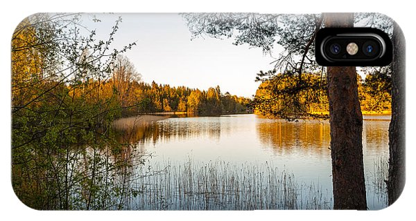Pretty Spring Evening At The Lake IPhone Case