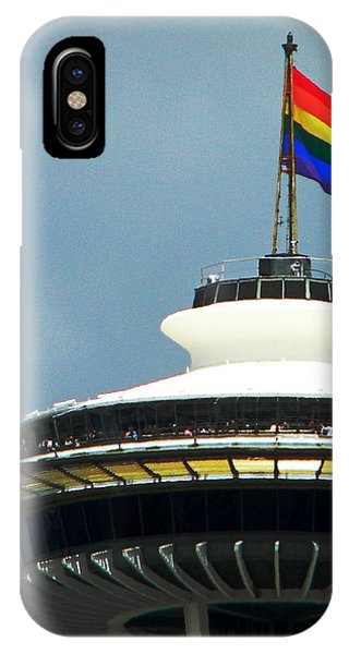 Gay Pride Flag iPhone Case - Pride Of Seattle by Zoltan Spitzer