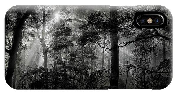 Dark iPhone Case - Primary Forest by Mathilde Guillemot