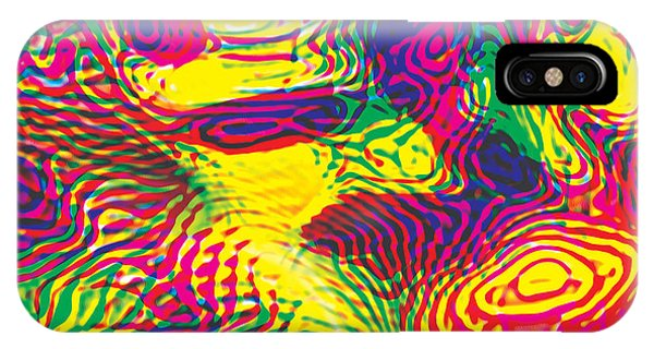 Primary Ripples Hot IPhone Case