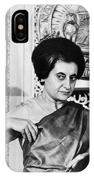 Culture Club iPhone Case - Prime Minister Indira Gandhi by Warren Leffler