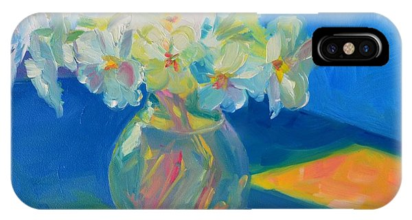 Primroses In Spring Light - Still Life IPhone Case