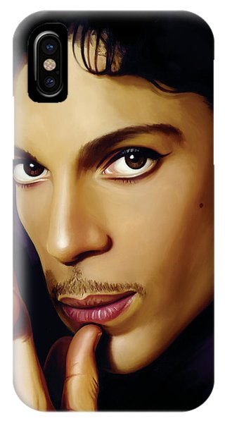 Rock And Roll Art iPhone Case - Prince Artwork by Sheraz A