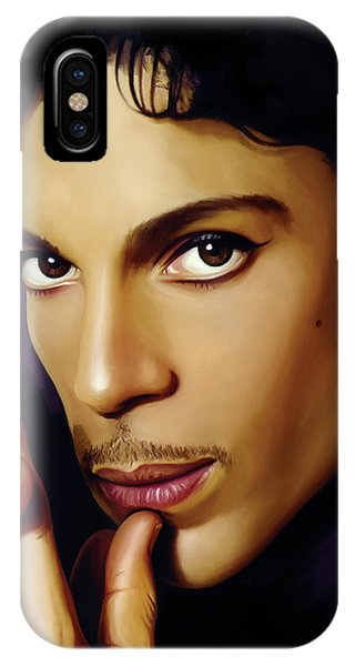 Rock And Roll iPhone X / XS Case - Prince Artwork by Sheraz A
