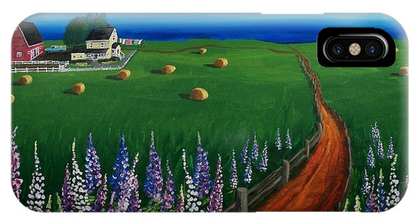 Prince Edward Island Coastal Farm IPhone Case