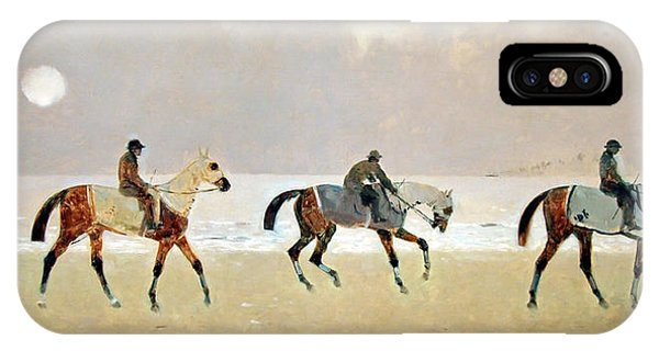Princeteau's Riders On The Beach At Dieppe IPhone Case