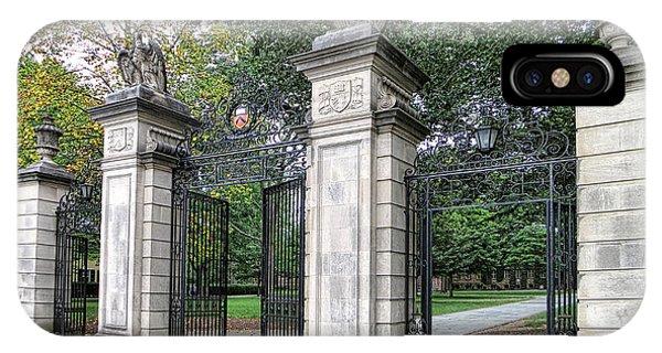 Princeton University Main Gate IPhone Case