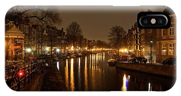 Prinsengracht Canal After Dark IPhone Case