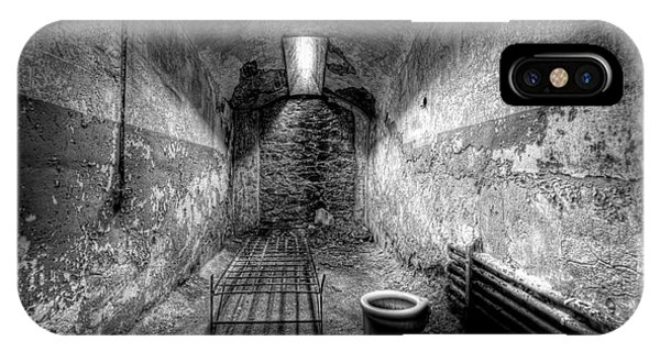 Nikon iPhone Case - Prison Cell Black And White by Michael Ver Sprill