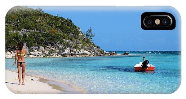 Private Beach Bahamas IPhone Case