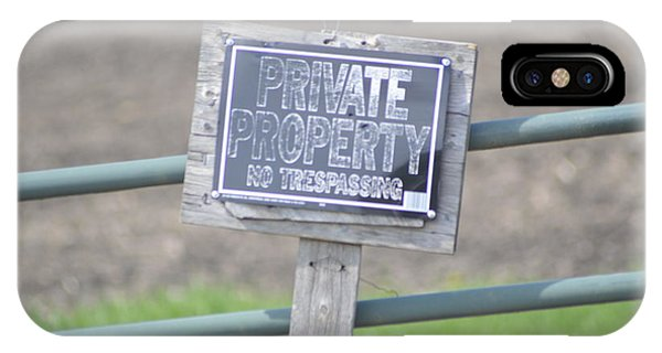 Private Property IPhone Case