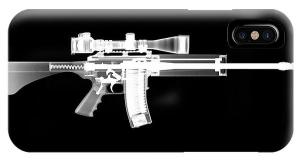 Calico M100 iPhone Case - Pro Ordnance Carbon Ar15 by Ray Gunz