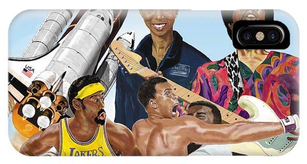Jimi, Muhammad Ali, Wilt Chamberlain And Mae Carol Jemison IPhone Case