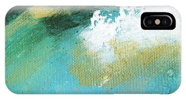 Propel Aqua Blue Gold Phone Case by L J Smith