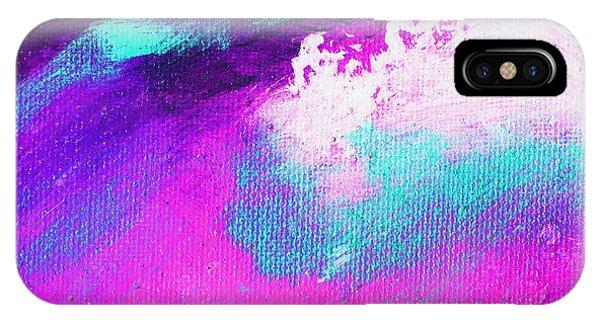 Propel Aqua Blue Pink Phone Case by L J Smith