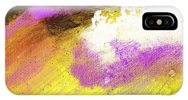 Propel Yellow Purple Phone Case by L J Smith