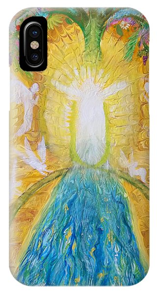 Prophetic Message Sketch 11 Two Trees Become One Tree And River Of Life IPhone Case