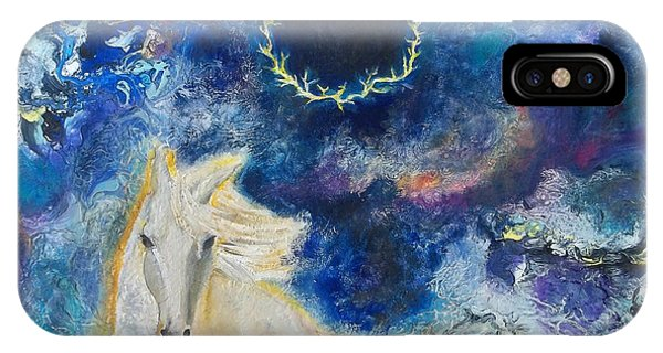 Prophetic Message Sketch Painting 6 Ring Of Lightning White Horse IPhone Case