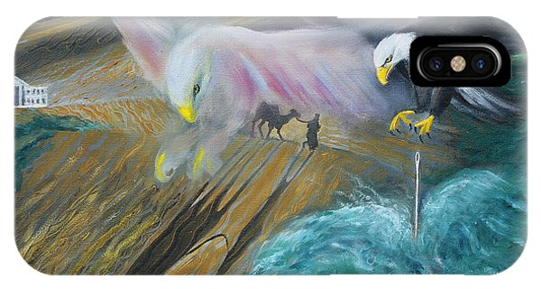 Prophetic Ms 36 Two Eagles Camel Through Eye Of Needle Parable IPhone Case