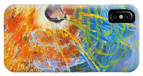Prophetic Sketch Painting 25 Lion Of Judah Awakens With A Roar IPhone Case