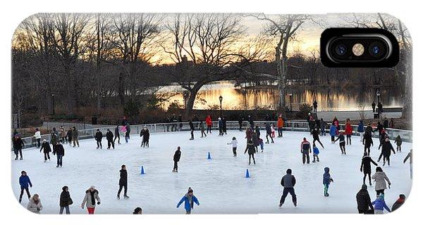 Prospect Park Skating Rink At Sunset IPhone Case