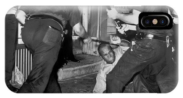 Protester Clubbed In Harlem IPhone Case