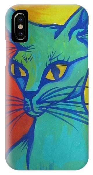 Proud Cat Phone Case by Cherie Sexsmith