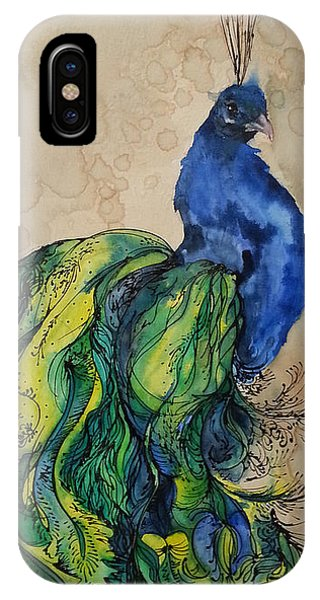 Proud Peacock Blue IPhone Case