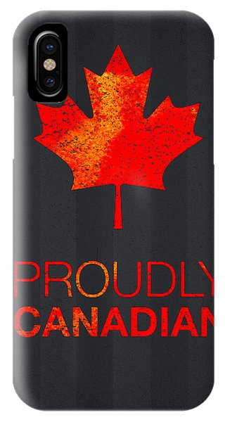 Mottled iPhone Case - Proudly Canadian by Aged Pixel