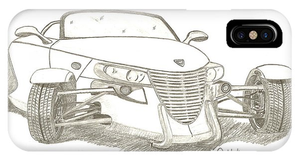 Prowler Sketch IPhone Case